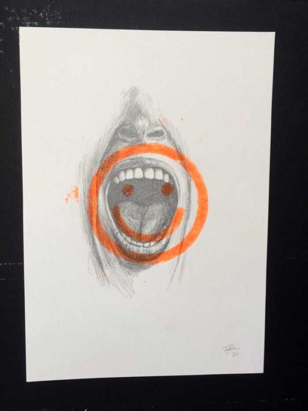 Happiness drawing print art